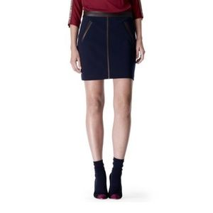 Club Monaco Skirts - NWT Club Monaco Knit with Leather Trim 0